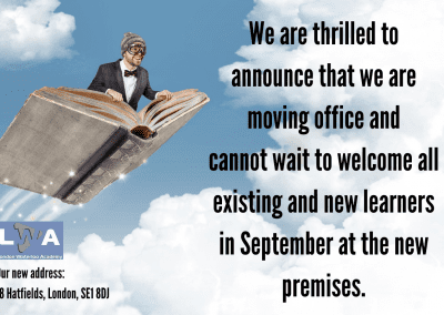 We are thrilled to announce that we are moving office and cannot wait to welcome all existing and new learners in September at the new premises.