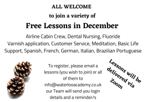 Free Virtual Online Lessons - All Welcome to Join!!