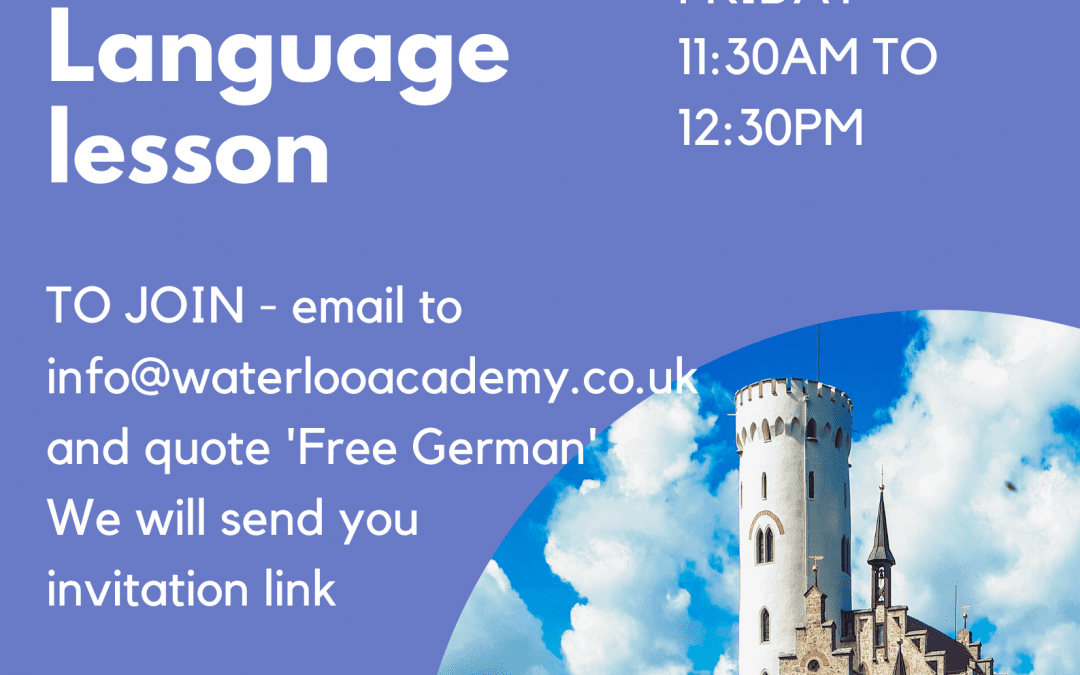 Free German Language Virtual Online Lesson