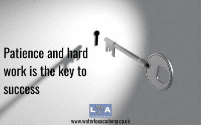 Patience and hard work are the Key to Success