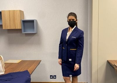 airline cabin crew uniform fitting day london waterloo academy